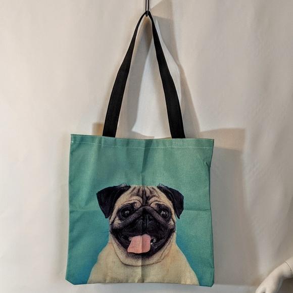 Handbags - Pug Dog Market Bag Shopping Tote NWOT